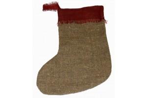 Didelė kalėdinė kojinė dovanų įpakavimui