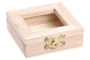 Dėžutė su stiklu 6x6 cm., 8735707