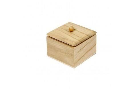 Medinė dėžutė, 6x6x5 cm., CR57691