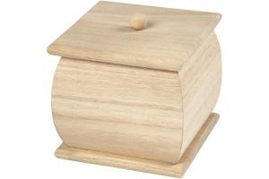 Medinė dėžutė, 7,5x7,5x8 cm., CR57689