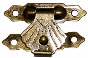 Lock, 3x2 cm., antique golden,  CR58000