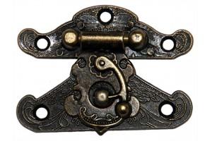 Spynelė dėžutei 5x4 cm.,  antikinis auksas, CR58004