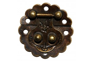 Lock imitation, 3x3 cm., antique golden,  CR58004