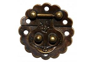 Spynelė dėžutei 3x3 cm.,  antikinis auksas, CR58004