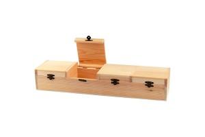 Dėžutė keturių dalių, 47x12x8 cm.