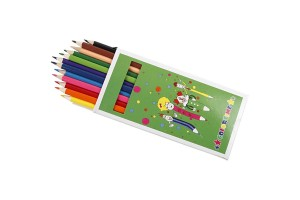 Colortime Coloured Pencils, 3 mm lead, asstd colours, Basic, 12 colors, CR38093