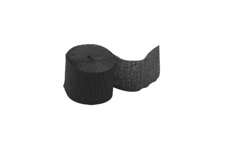 """""""Crepe"""" popierius, juodas, rulonas, 5cm x20 m., CR20892"""