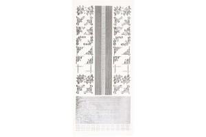 Peel Off Stickers, 10x23 cm, silver, 1 pcs.,  CR100721