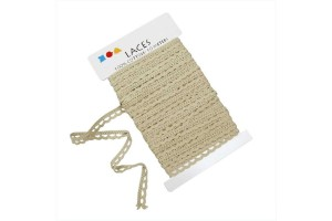 Crochet Lace Border , 10 mm, natural, 1 m., CR41097