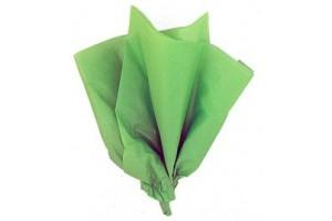 Tissue šilko popierius,  50x70 cm., 13 vnt., žalia spalva, F91550