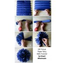 Tissue paper, dark blue, 50x70 cm.,13 pcs., F91530