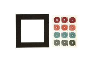 Kvilingo juostelių rinkinys, 10x10 cm, storis 5 mm., CR11739