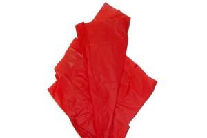 Tissue šilko popierius,  50x70 cm., 13 vnt., raudona, F91520