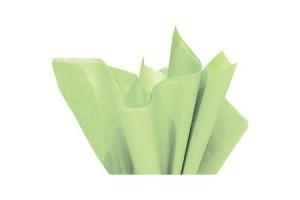Tissue šilko popierius,  50x70 cm., 13 vnt., šviesiai žalia, F91551