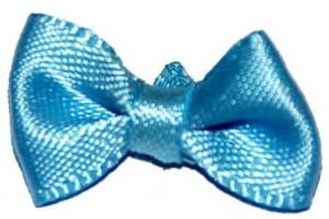 Ribbon bowknot decoracions, light blue,  20x15 mm., CR51250
