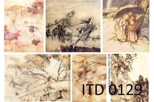 Popierius dekupažui ITD A4 (210x297 mm.) M-0129