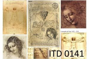 Popierius dekupažui ITD A4 (210x297 mm.) M-0141