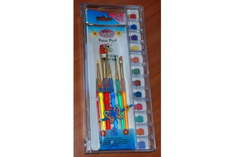 Brushes pack 6 pcs. with palette BK635