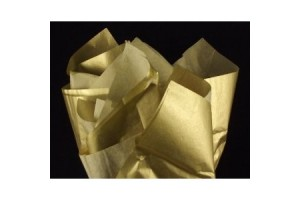 Tissue paper,  50x70 cm.,13 pcs., gold, F91565