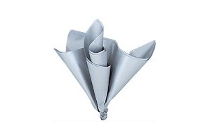Tissue šilko popierius,  50x70 cm., 13 vnt., sidabrinis, F91566