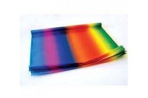 Tissue paper,  50x70 cm.,13 pcs., rainbow,  F91577