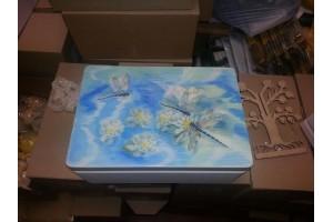 Christening box, 35x24x15 cm.