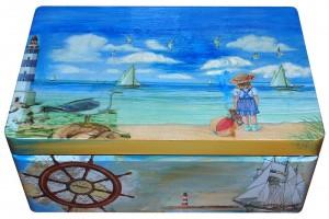 Krikštadėžė, jūra, 35x24x15 cm.