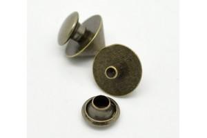 Rivet, copper color, 10x9 mm., 1 pcs.