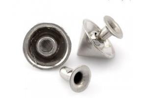 Rivet, silver color, 10x6 mm., 1 pcs.