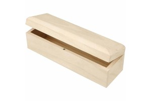 Medinė dėžutė su magnetuku, 20x6x6 cm., CR577330