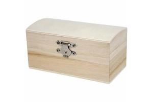 Medinė dėžutė su užsegimu, 11,5x5,8x5,8 cm., CR574940