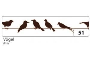 Lipni juostelė, paukščiukai,  15x10 mm., F26051