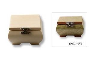 Medinė dėžutė su užsegimu, 9x9x5cm. , V2502-020
