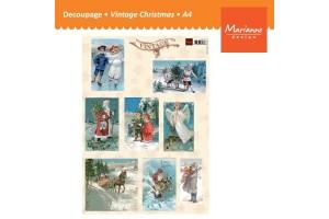 Paper for decoupage, scrapbooking, vintage,  A4, VMARVK9531