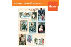 Paper for decoupage, scrapbooking, vintage,  A4, VMARVK9532