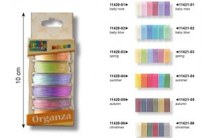 Ribbon set,  6pcs., 6mmx2m., V11421-06