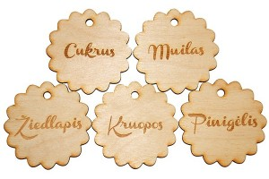 Labels for christening bags., 6 cm., your design, GR0005