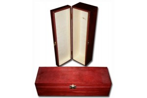 Wine box decorated with lock 35x10,5x10 cm.