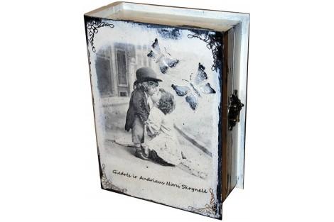 Svajonių dėžutė - dekupažas, 25 x 18 x 8,3cm.