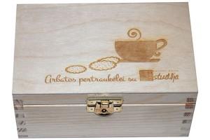 Arbatos dėžutė, 15x9,5x7,5 cm., lazerinis graviravimas