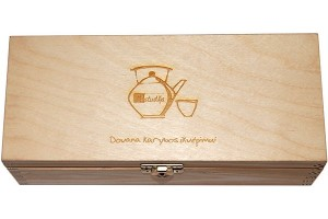Arbatos dėžutė, 22x9,5x7 cm., lazerinis graviravimas