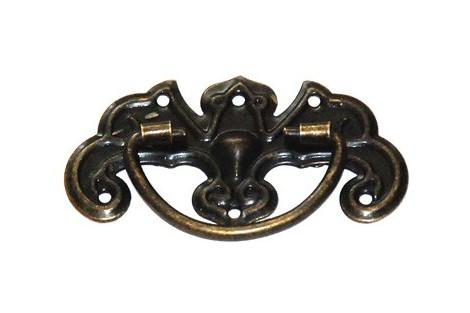 Rankenėlė antikinis auksas 4,4x2,8 cm. DR1703