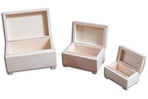 Medinių dėžučių komodėlių komplektas 3 vnt.