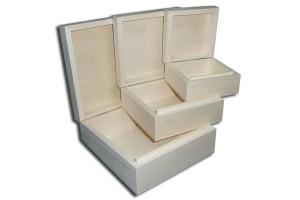 Dėžučių komplektas 3 vnt. kvadratinės DWS1222/K