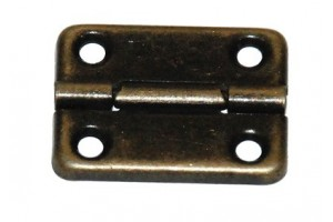 Hinges rectangular dark 1716