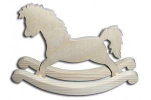 Dekoratyvinis medinis arkliukas didelis 21,5x8,5x4,4 DWZ0603