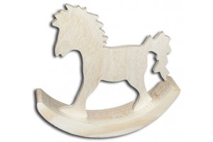 Decorative wooden hobby horse 9x9x1 7 cm DWZ0620A