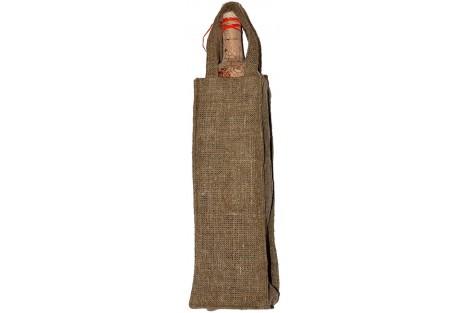 Lininis maišelis vynui, buteliui 12x35 cm., BAG9