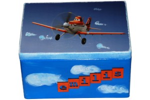 Žaislų dėžė, lėktuvas, 40x30x23 cm.