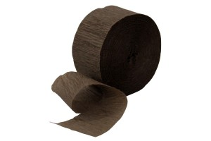 Crepe Paper Streamers, 5 cmx20 m., brown, CR20892